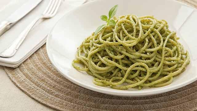 Spaguetti ao Pesto Genovês
