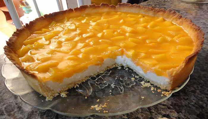 Deliciosa Torta Gelada de Pêssego