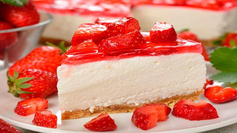 Receita Deliciosa de Cheesecake de Morango